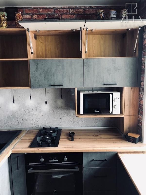 Маленькая кухня на заказ в стиле лофт в Архангельске