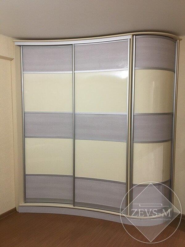Радиусный шкаф-купе в гостиную г. Архангельск